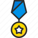 award, medal, star, trophy, win, winner icon