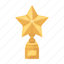 award, champion, cup, gold, prize, star, trophy icon