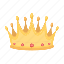 award, champion, cup, gold crown, prize, trophy, winner icon