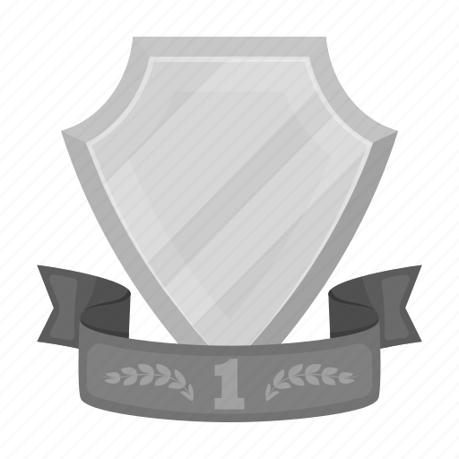 Award, emblem, first, prize, ribbon, shield, trophy icon - Download on Iconfinder