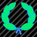 award, laurel, prize, wreath icon