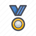 awards, certificate, medal, prize, trophy, victory icon