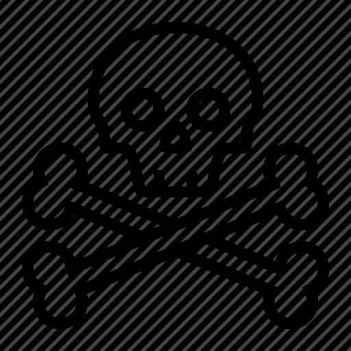 bones, danger, dead, death, jolly roger, pirate, pirates, skull, warning icon