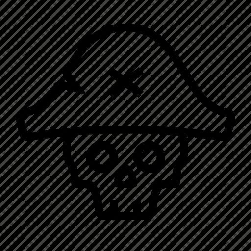 bicorn, dead, hat, pirate, pirates, skull icon