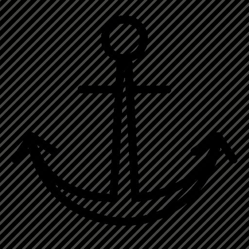 anchor, boat, marine, maritime, nautical, naval, pirate, pirates, ship icon