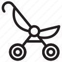 stroller, pram, baby, family, pushchair, carriage, cart