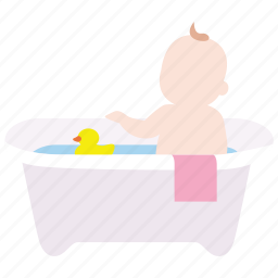baby, bath, bathtub, infant, time, toddler, tub icon