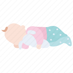 baby, child, infant, night, sleep, sleeping, toy icon