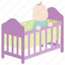 baby, bassinet, bed, cot, crib, infant, toddler icon
