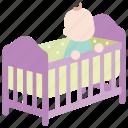 baby, bassinet, bed, cot, crib, infant, toddler