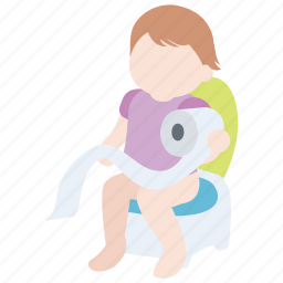 child, infant, parenting, potty, toddler, toilet, training icon