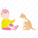 animal, cat, child, companion, kid, pet, toddler icon