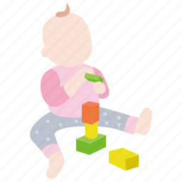 baby, blocks, building, childhood, infant, playing, toddler icon