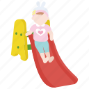 baby, dip, infant, preschool, slide, slippery, toddler icon