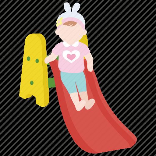 baby, dip, infant, preschool, slide, slippery, toddler icon