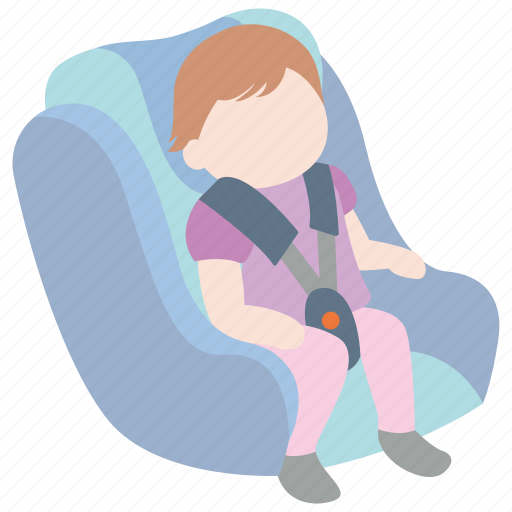 baby, car, carseat, harness, safety, seat, toddler icon