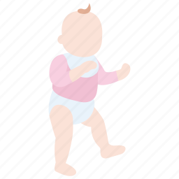 baby, childhood, early, first, steps, toddler, walking icon