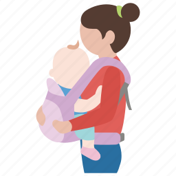 baby, carrier, child, harness, infant, mother, toddler icon