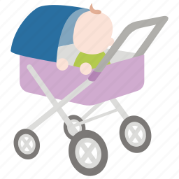 baby, childhood, early, perambulator, pram, stroller icon