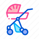 baby, bottle, carriage, diaper, rattle