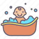 water, tub
