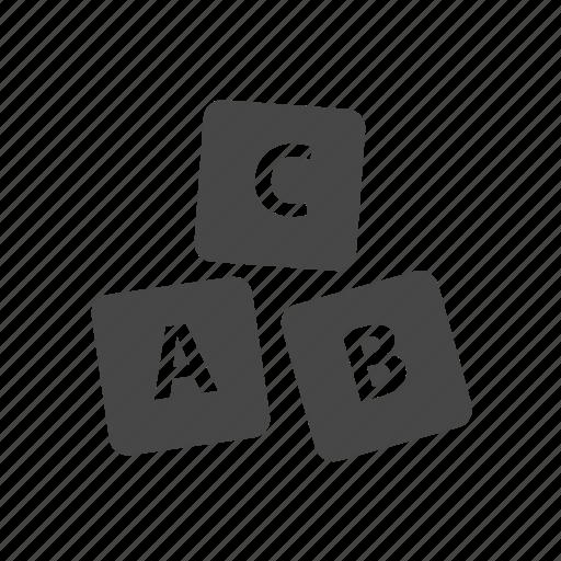 abc, abc blocks, abc cubes, alphabet icon