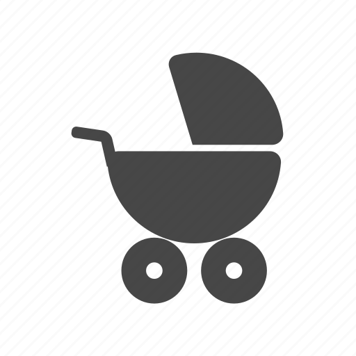 baby, birthday, infant, newborn, pushchair icon
