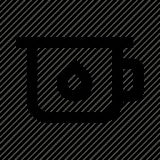drop, mug, potty icon