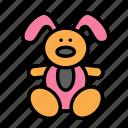 baby, family, kid, rabbit