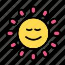 baby, family, kid, sun icon
