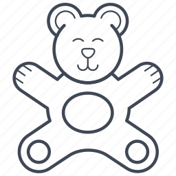 animal, bear, teddy, toy icon