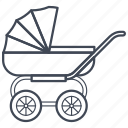 baby, carriage, cradle, newborn, pram, stroller icon