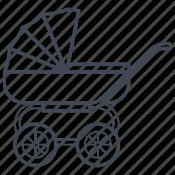 baby, carriage, cradle, newborn, pram, stroller icon