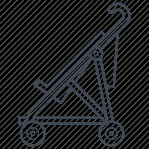 baby, cane, carriage, newborn, pram, stroller icon