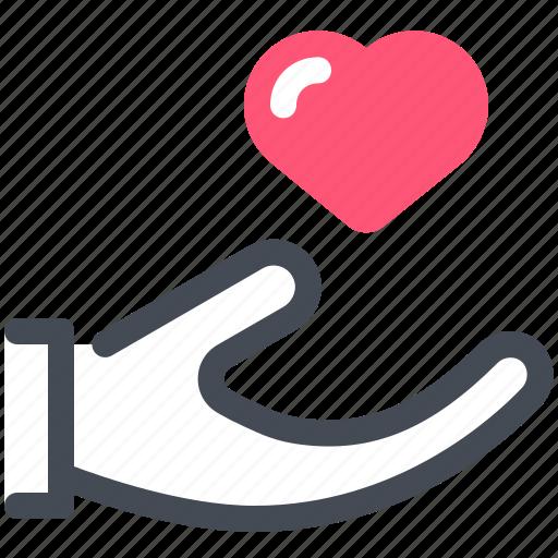 family, hand, heart, love, romance icon