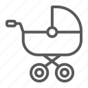 baby, buggy, carriage, child, kid, pram, wheel icon