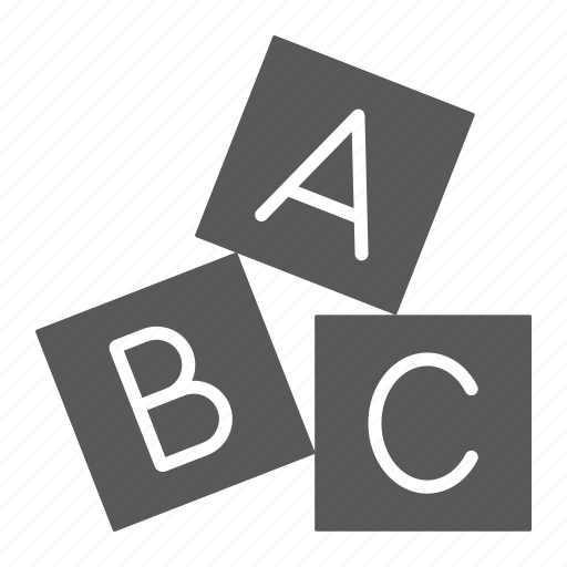 abc, alphabet, baby, block, cube, cubes, toy icon