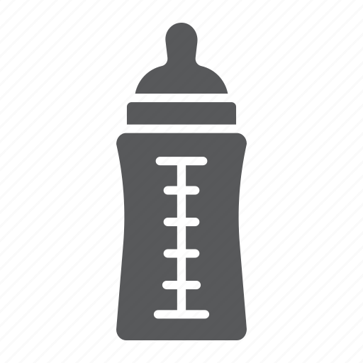 baby, bottle, container, drink, feed, food, milk icon
