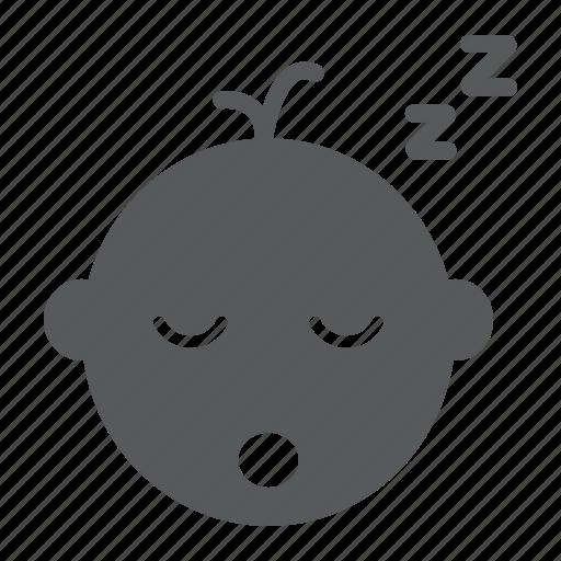 asleep, baby, boy, child, dream, kid, sleep icon