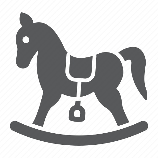 baby, game, horse, pony, rocking, toy, wooden icon