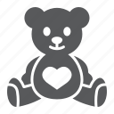 animal, bear, child, plush, soft, teddy, toy icon