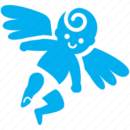 angle, baby, boy, child, cupid, fly, kid icon