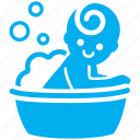 baby, bath, bathing, kid, toddler, baby shower, child