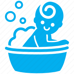 baby, baby shower, bath, bathing, child, kid, toddler icon