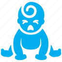 baby, child, cry, emotion, kid, sad, tot icon