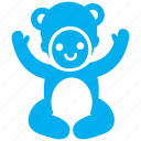 baby, cherub, child, costume, kid, teddy bear, toddler icon