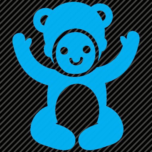 baby, cherub, child, costume, kid, teddy bear, toddler icon