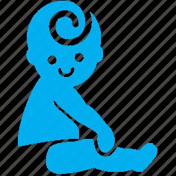 baby, boy, child, cute, kid, sit, toddler icon