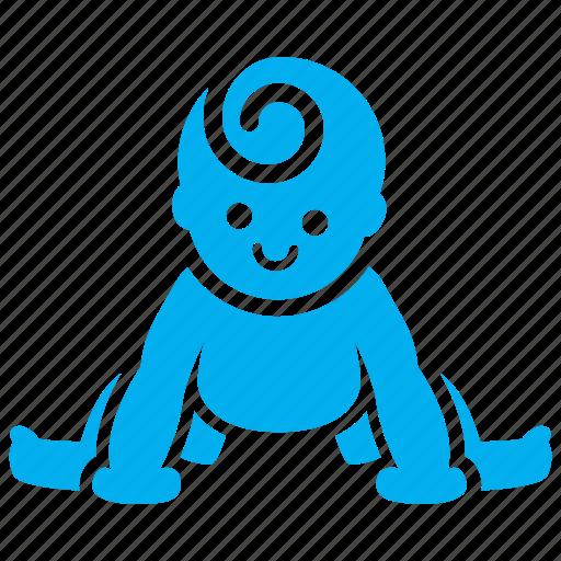 babe, baby, happy, sit, smile, smiley, toddler icon