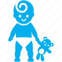 baby, child, cute, kid, stand, toddler, toy icon